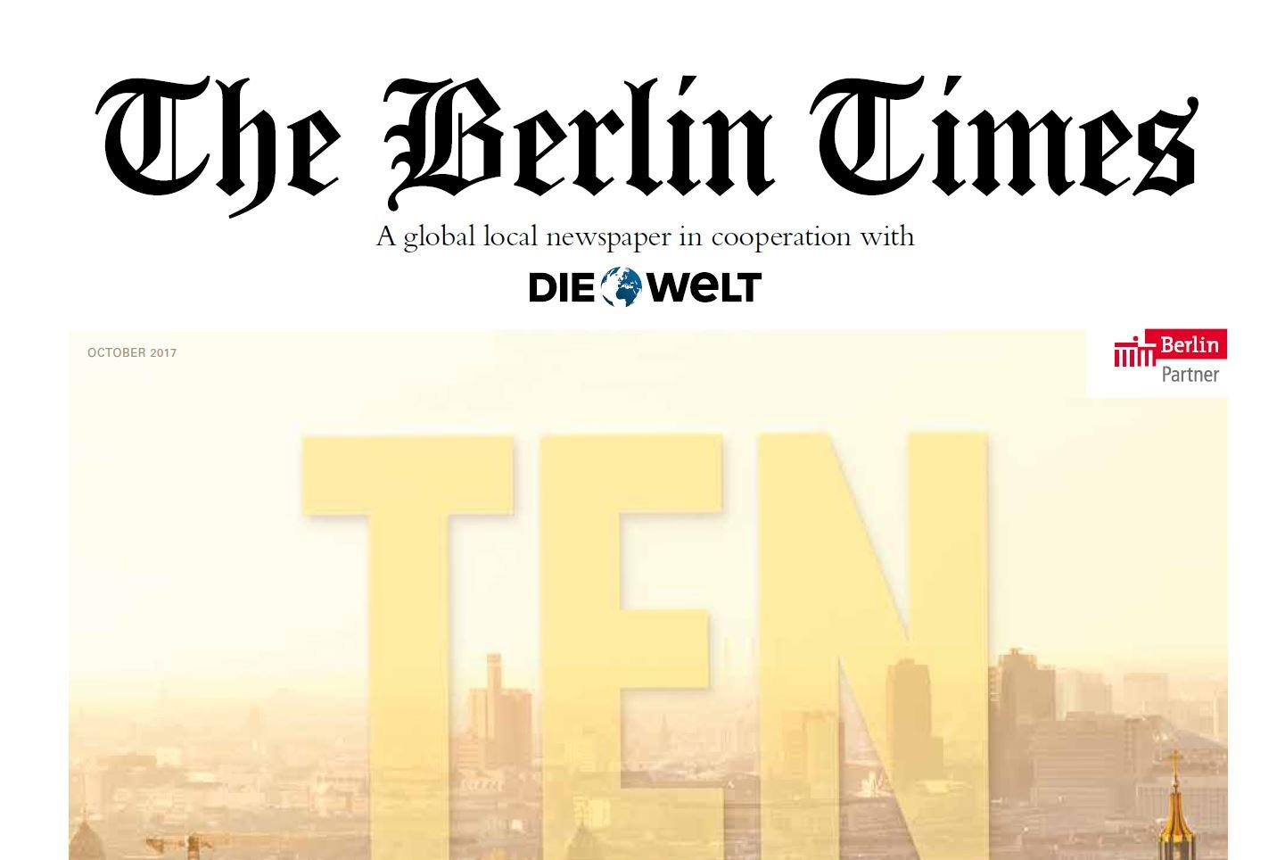 Neu zum Feiertag: The BerlinTimes