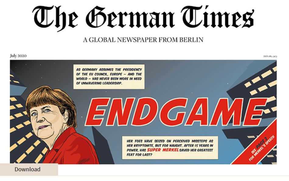 "Online now: The new edition of ""The German Times"""