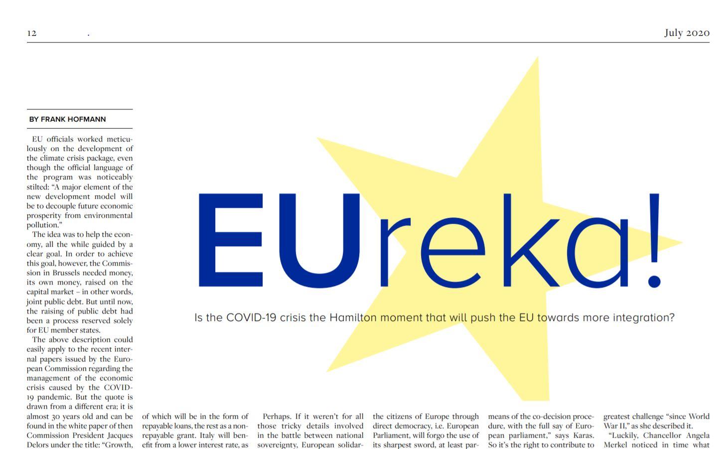 Europa verstehen: Schulden für die Integration